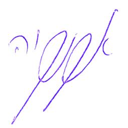 החתימה של פרופסור אהוד קוקיה